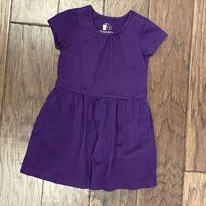 Size 2 Purple Short Sleeve Primary Dress